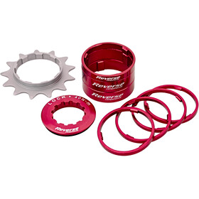 Reverse Single Speed Kit Cassette red